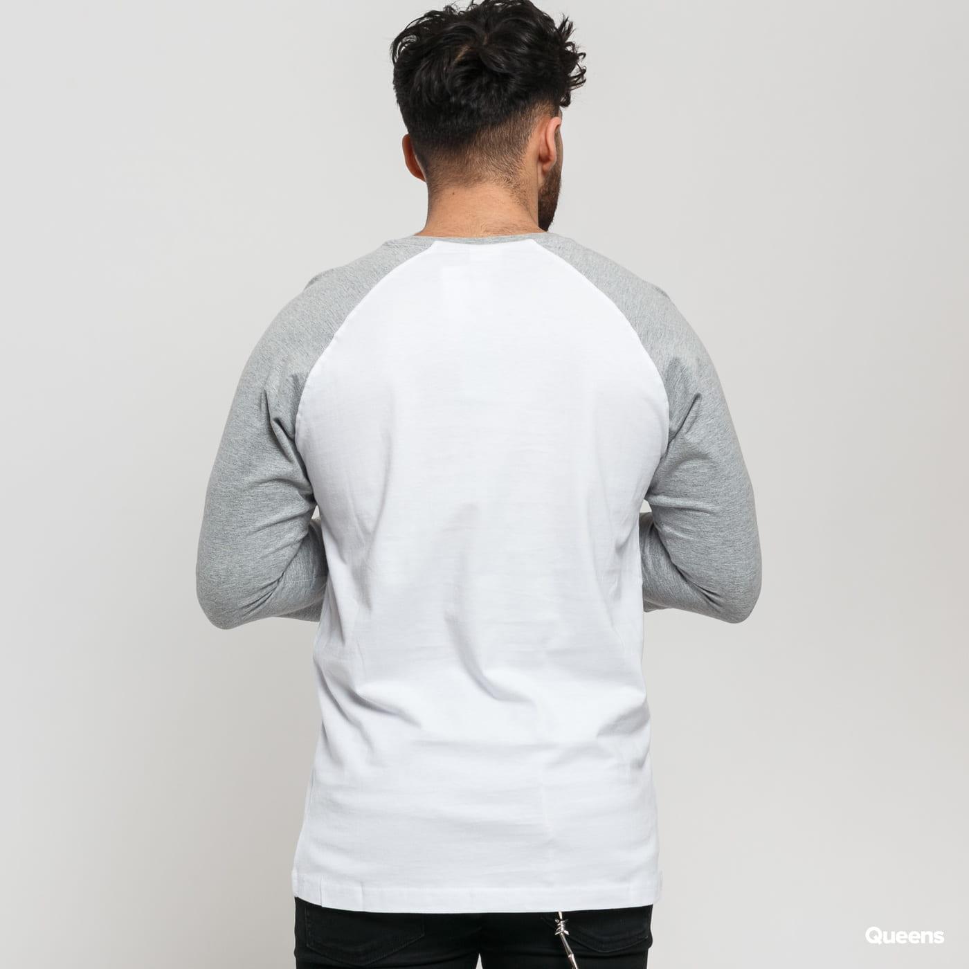 Urban Classics Contrast 3/4 Sleeve Raglan weiß / grau