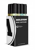 Molotow BASIC Sketcher Twin 12set  green kit 5