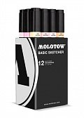 Molotow BASIC Sketcher Twin 12set character kit 6