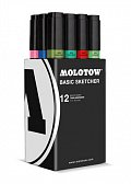 Molotow BASIC Sketcher Twin 12set main III kit 7