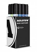 Molotow BASIC Sketcher Twin 12set blue kit 8
