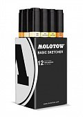 Molotow BASIC Sketcher Twin 12set yellow kit 10