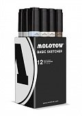 Molotow BASIC Sketcher Twin 12set grey II kit 11