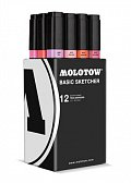Molotow BASIC Sketcher Twin 12set pink kit 12
