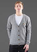 Turbokolor Roman Knitted Cardigan šedý