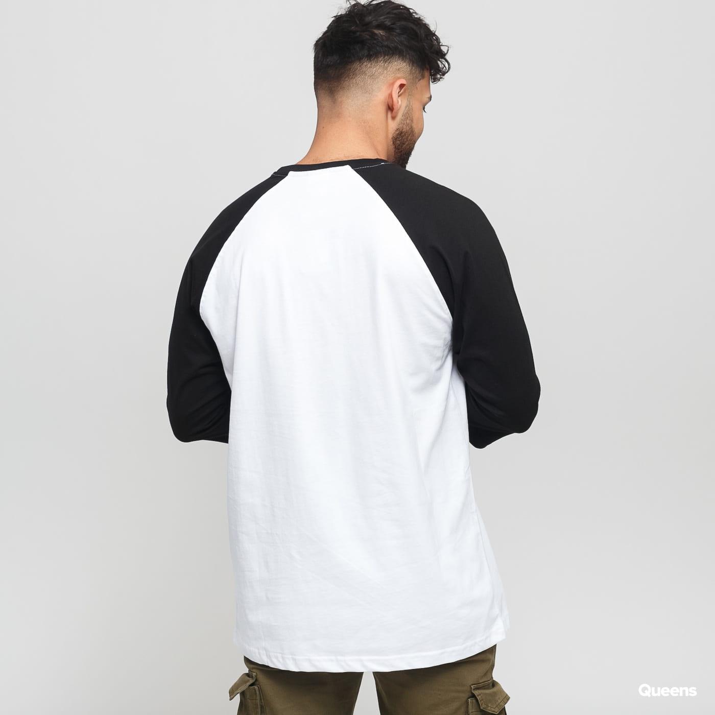 Urban Classics Contrast 3/4 Sleeve Raglan biele / čierne