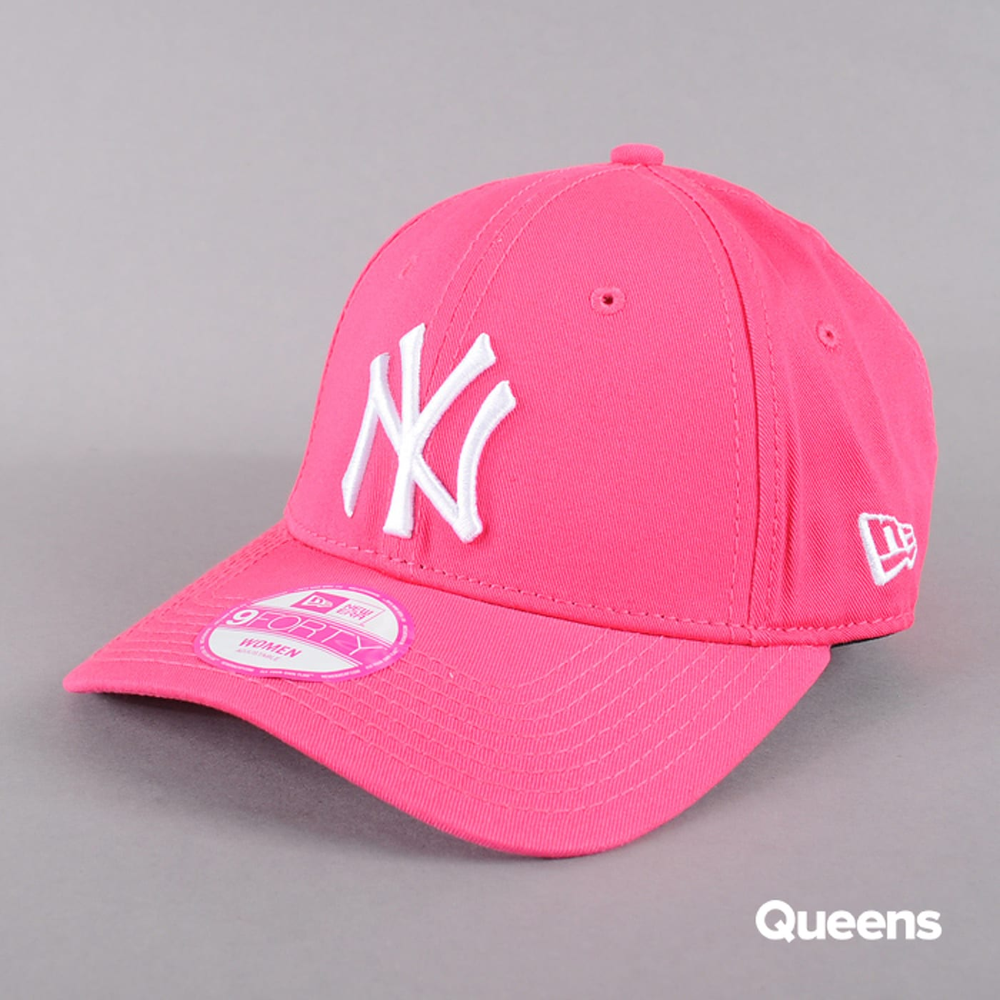 New Era WMNS Fash Ess 9Forty NY neon pink / white