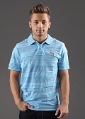 Puma Sports Casual Striped Polo světle modré