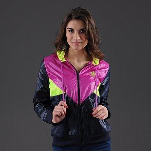 adidas Colorado Windbreaker světle fialová / neon žlutá / navy