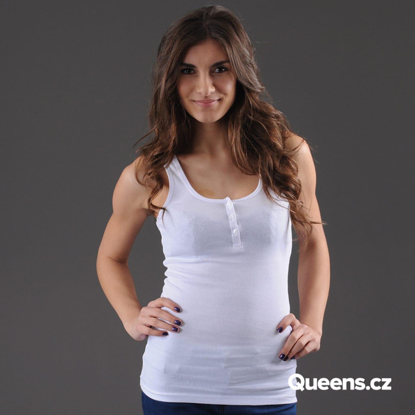 Urban Classics Ladies Button Tanktop white