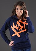 K1X Shorty At Large Tag Hoody navy / oranžová