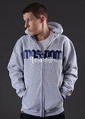 Mass DNM Icon Zip Hoody šedá