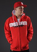 Mass DNM Icon Zip Hoody červená
