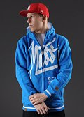 Mass DNM Hate Zip Hoody modrá
