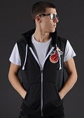 Mitchell & Ness Sleeveless Hoody Miami Heat tmavě šedá