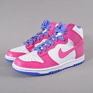 Nike Dunk High (GS) white / fusion pink - violet force