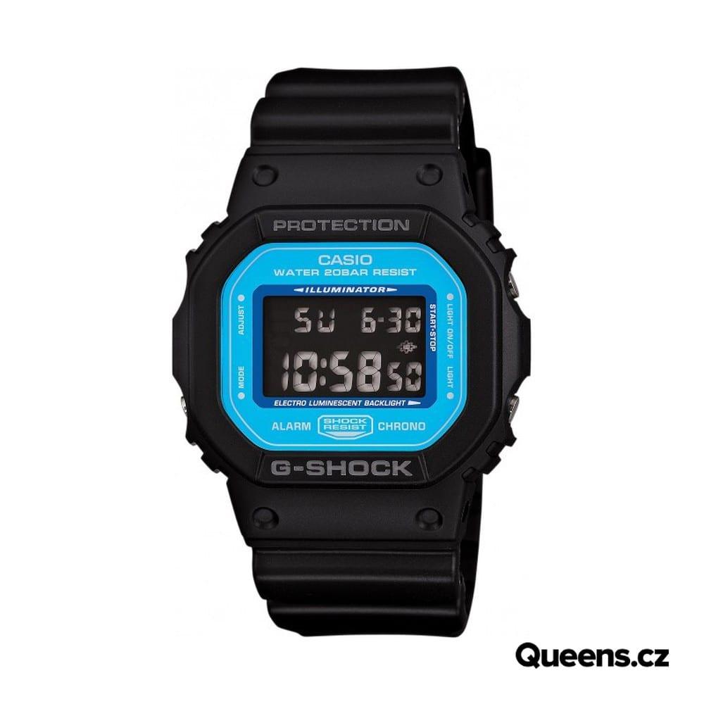 Casio G-Shock DW 5600SN-1ER schwarz / blau