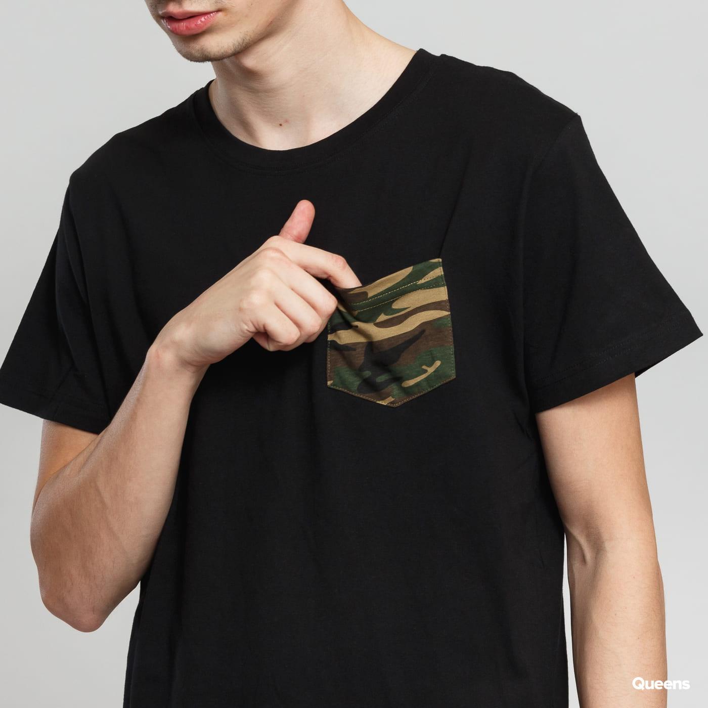 Urban Classics Camo Pocket čierne