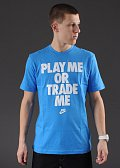 Nike BB Play Me Or Trade Me modré / bílé