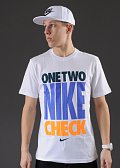 Nike One Two Nike Check SS bílé