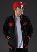 The Hundreds Recharged Jacket černá / červená