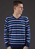 Ecko Stripes Core V-neck navy / bílý / modrý