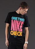 Nike One Two Nike Check SS černé