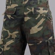 Urban Classics Camouflage Cargo Shorts camo green