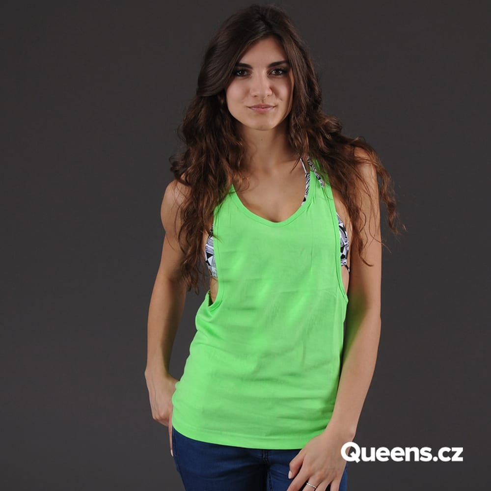 Urban Classics Ladies Loose Neon Tanktop neónovo zelené