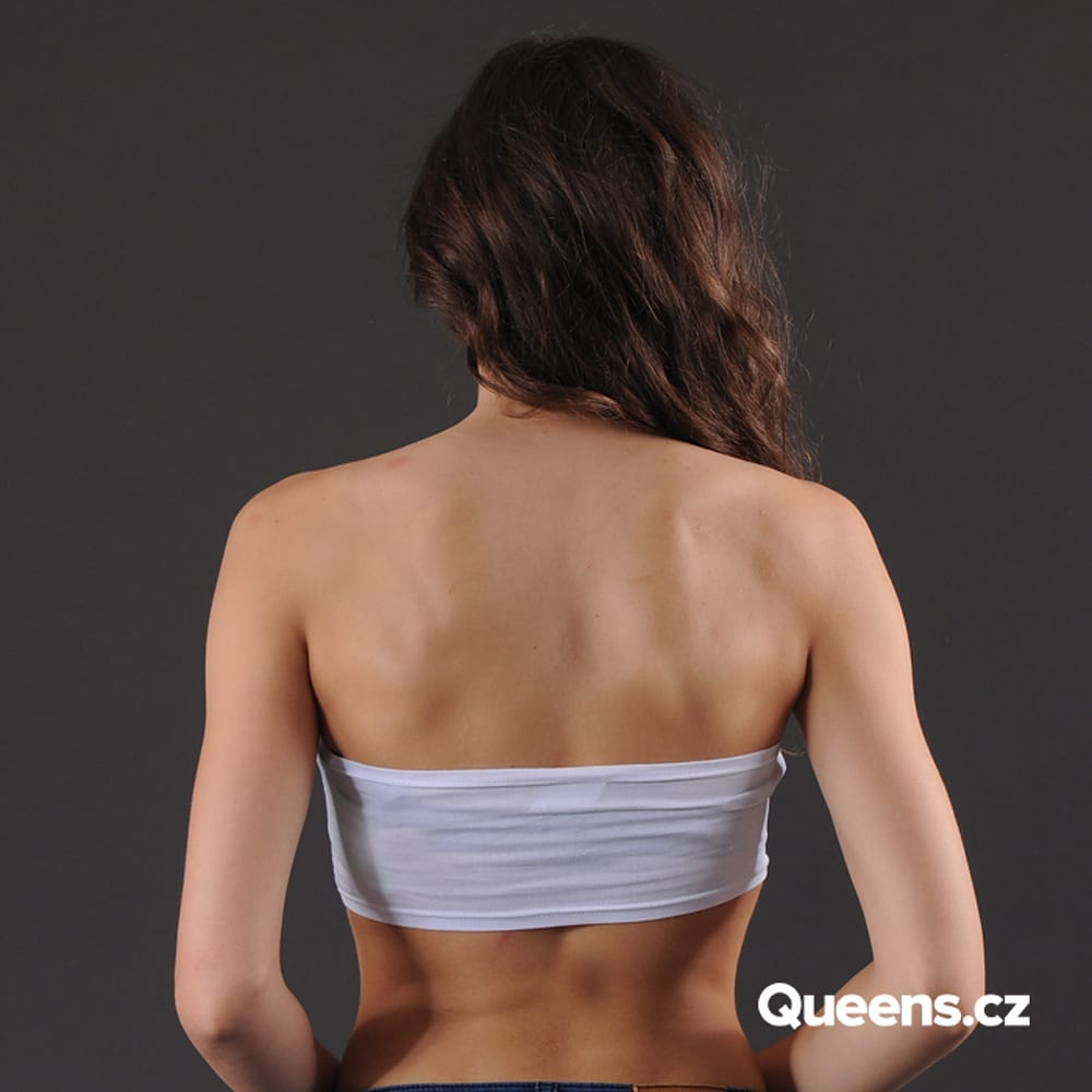 Urban Classics Ladies Bandeau Top white