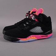 Jordan Girls Air Jordan 5 Retro (GS) black / bright citrus - fsn pink