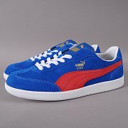 Puma Liga Suede snorkel blue / ribbon red - white