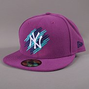 New Era Double Scribble NY fialová / navy