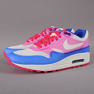 Nike WMNS Air Max 1 HYP PRM sail / sail - pink force - hypr blue