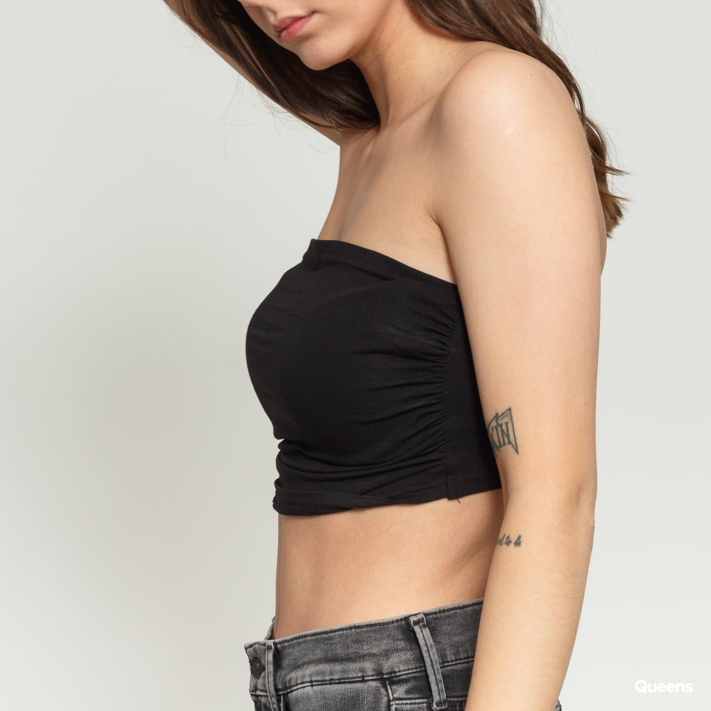 Urban Classics Ladies Bandeau Top čierny