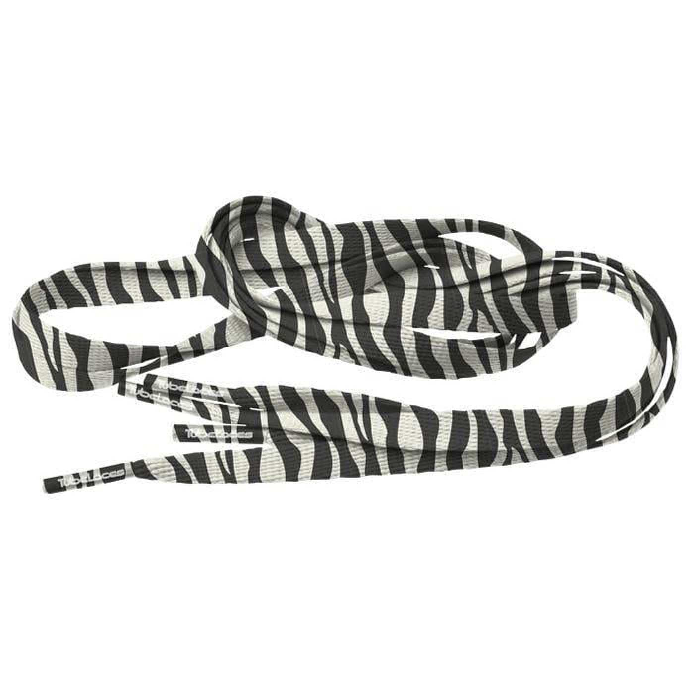 MD Tube Laces Special Flat 120 Zebra white / black