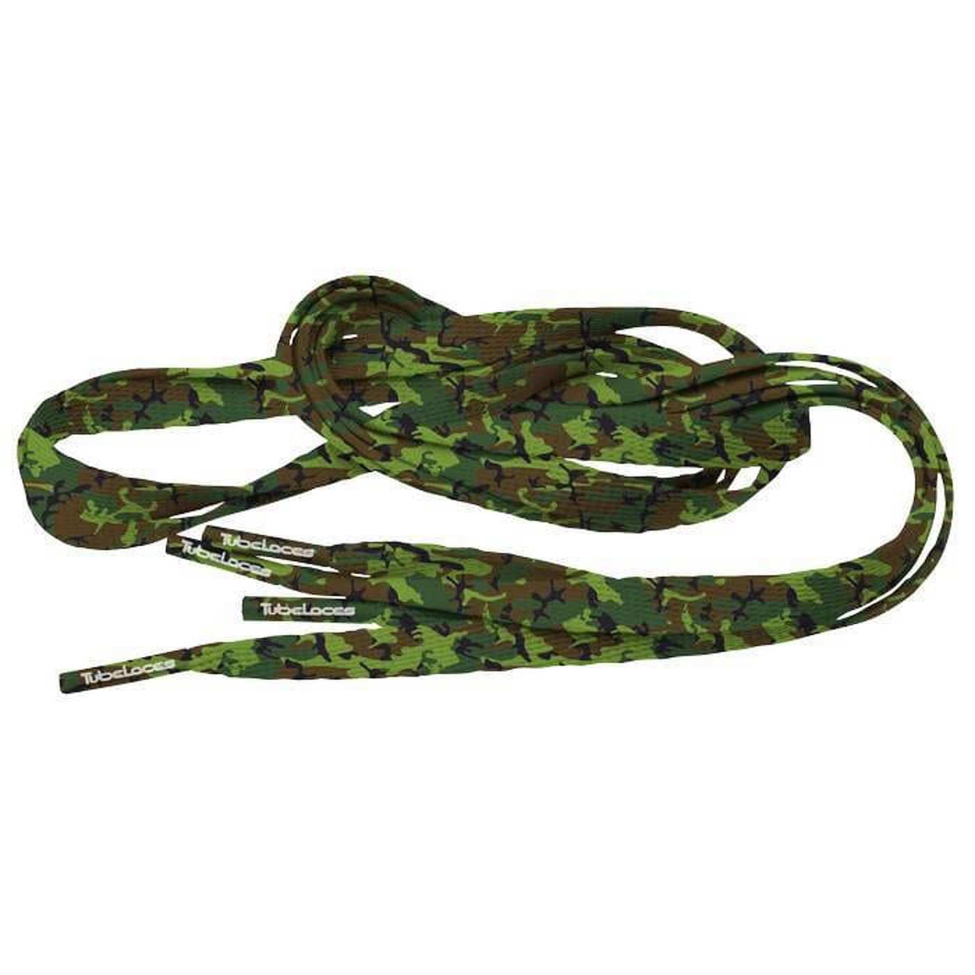 MD Tube Laces Special Flat 120 Camo zelené / hnedé