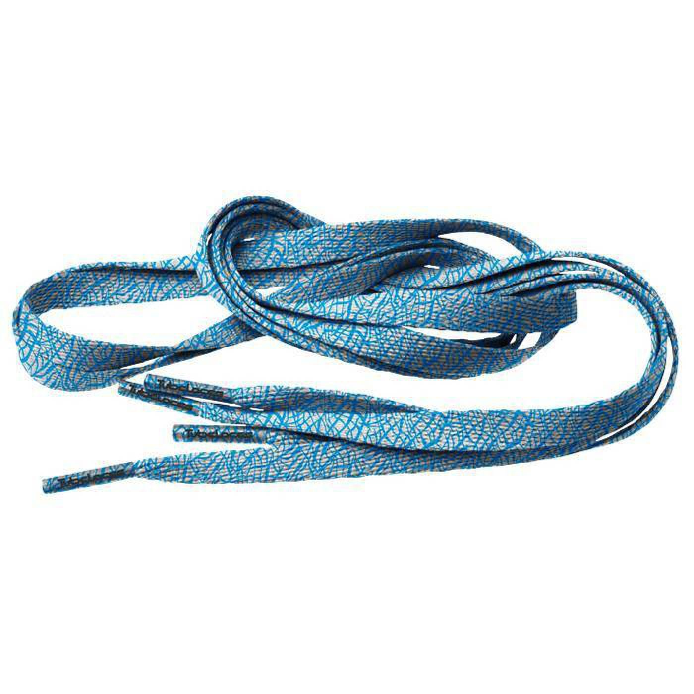 MD Tube Laces Special Flat 140 Elephant white / blue
