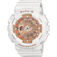 Casio Baby-G BA 110-7A1ER white / bronze