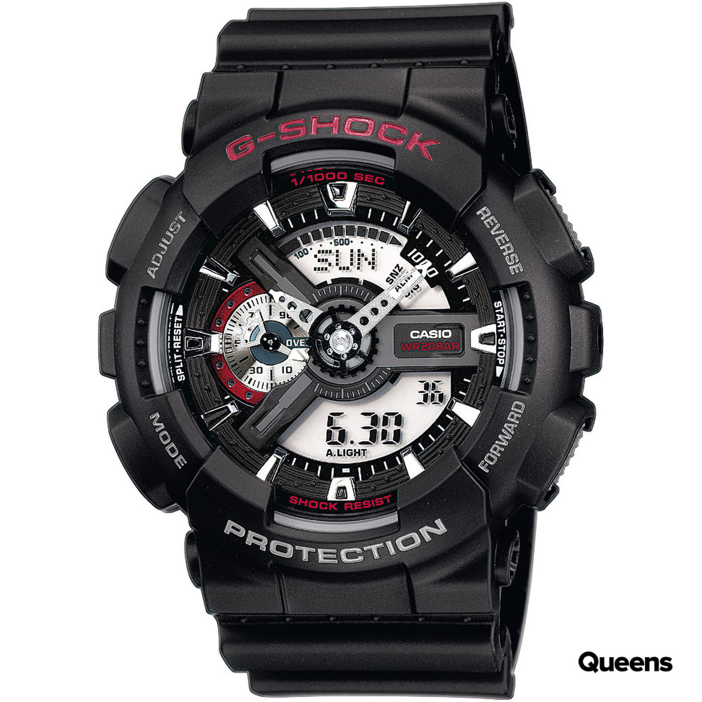 Casio G-Shock GA 110-1AER čierne / červené