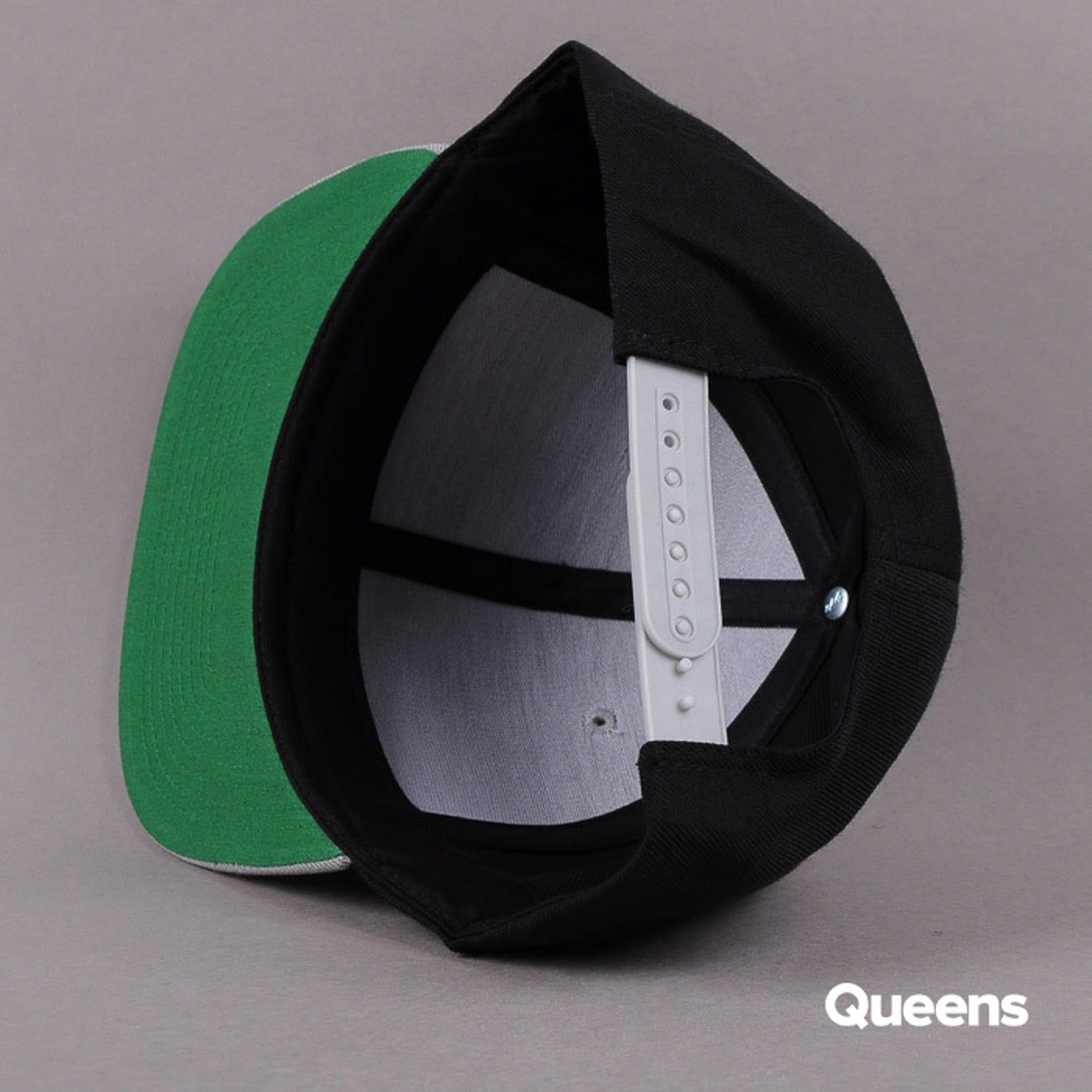 Yupoong Classic Snapback 2-Tone black / gray / green