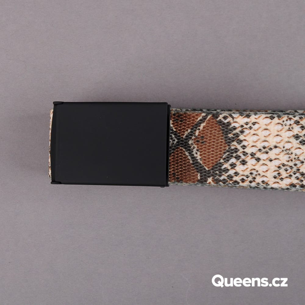 MD Printed Woven Belt Cobra creme / braun / oliv