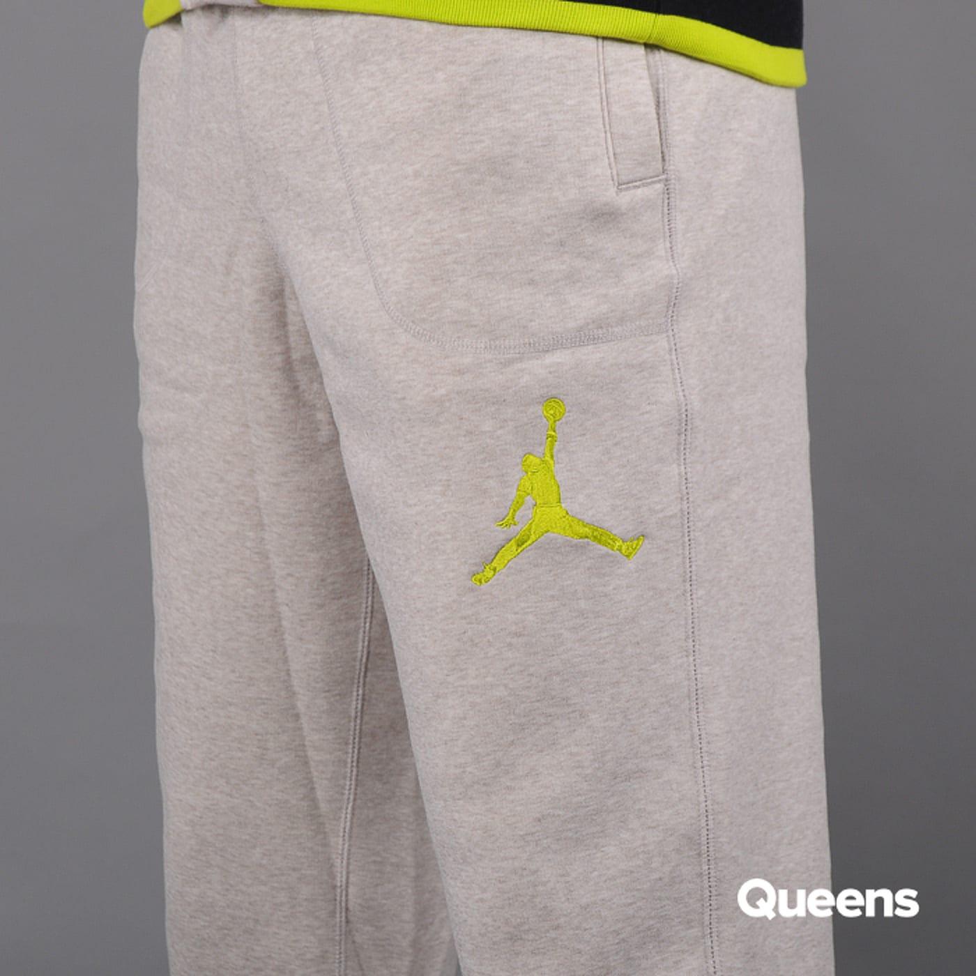Jordan Varsity Sweatpants melange světle béžové / černé / žlutozelené
