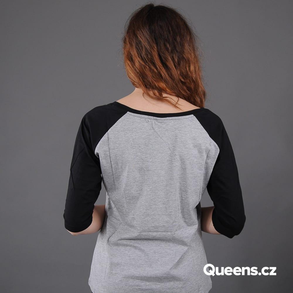 Urban Classics Ladies 3/4 Contrast Raglan melange šedé / čierne