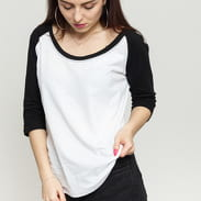 Urban Classics Ladies 3/4 Contrast Raglan white / black