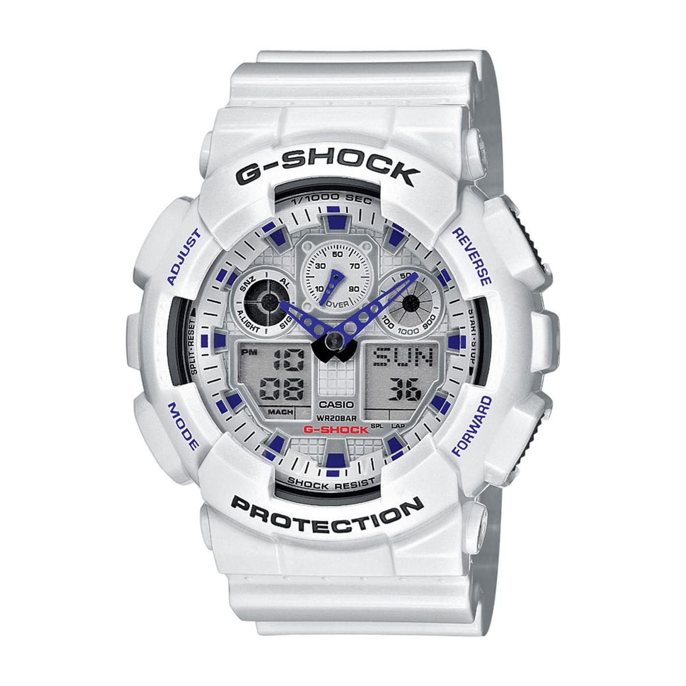 Casio G-Shock GA 100A-7AER biele