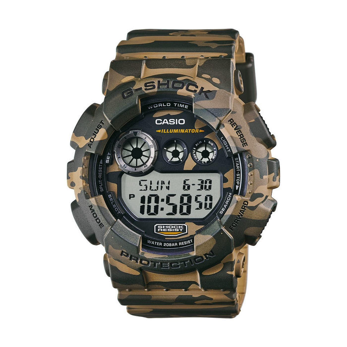 Casio G-Shock GD 120CM-5ER PL brown camo