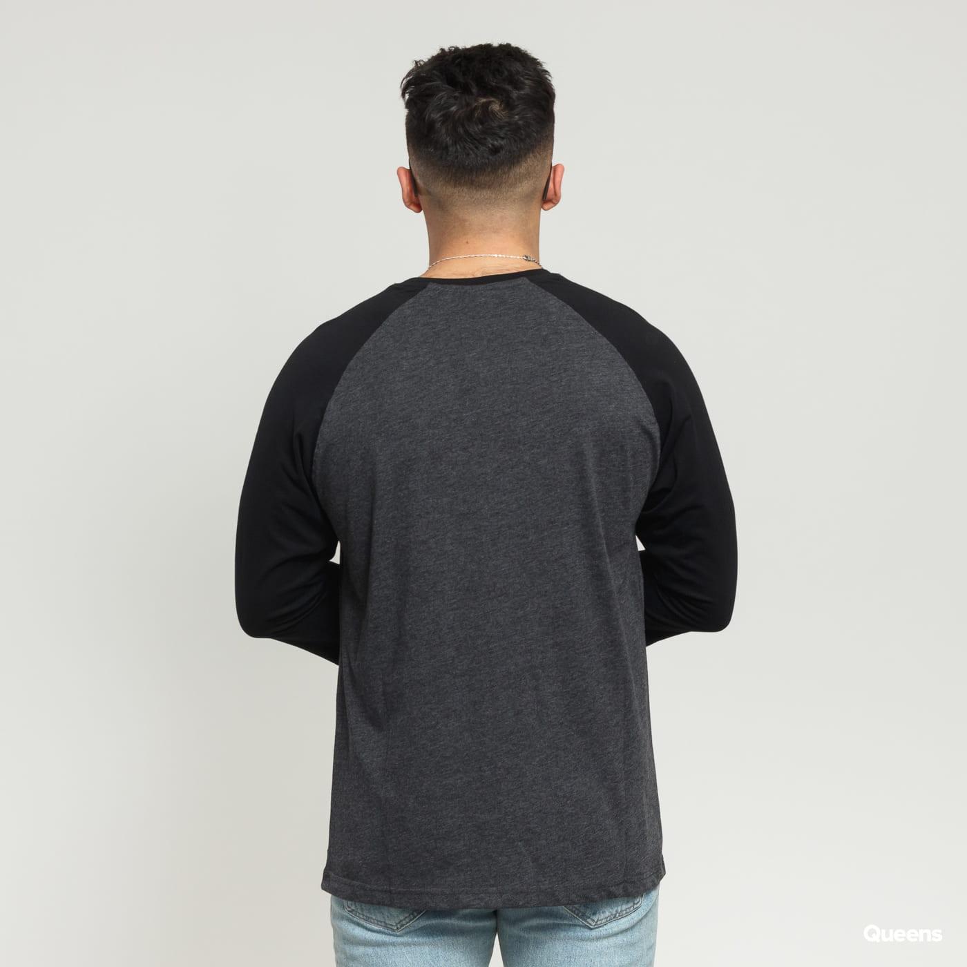 Urban Classics Contrast 3/4 Sleeve Raglan dark gray / black