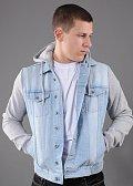 Urban Classics Hooded Denim Fleece Jacket