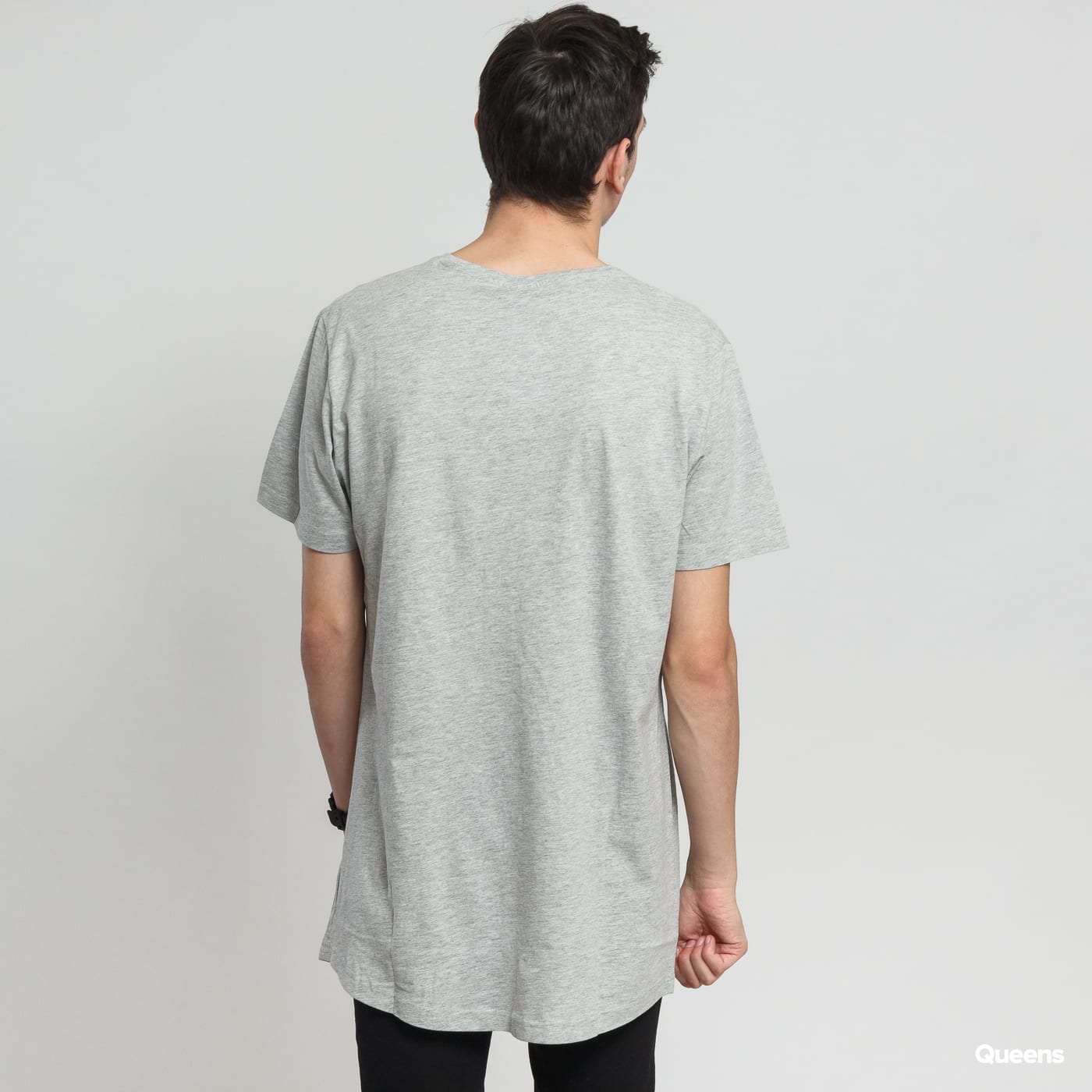 Urban Classics Shaped Long Tee grau melange